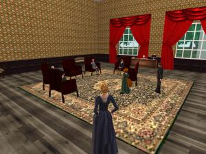 Late 1850s Green Room of the White House in Second Life